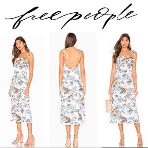 Free People Dresses - FREE PEOPLE Dress Midi Ivory Flamingo Paradise